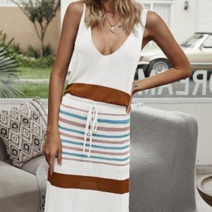 $20 Striped Midi Dress